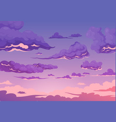 Evening cloudy sky background vector
