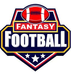 Fantasy american football logo design vector