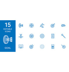 Goal icons vector