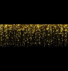 gold glitter confetti particles falling golden vector image