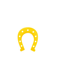 golden horseshoe lucky st patricks day symbol vector image