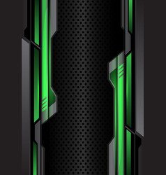 Green light dark gray futuristic on circle mesh vector