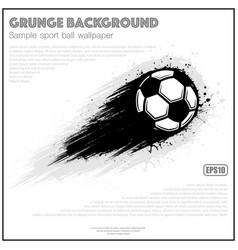 grunge white soccer splash moving vector image
