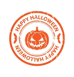 Halloween rubber stamp vector image