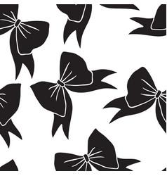 Hand drawn fashion romantic bow black and white vector