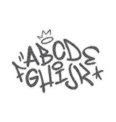 Handwritten graffiti font alphabet artistic hip vector