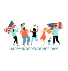 happy fourth july usa independence day vector image