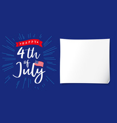 Happy independence day usa creative banner vector