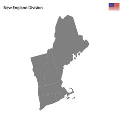 High quality map new england division of vector