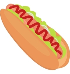 hotdog icon isolated on white vector image