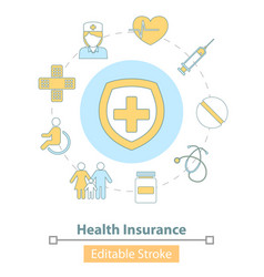 icon health insurance healthcare and vector image