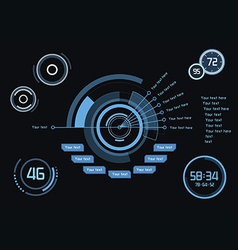 Infographics as head-up display vector image
