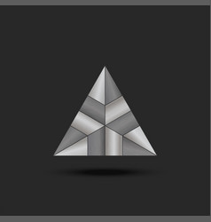 logo metal triangle futuristic element complex vector image