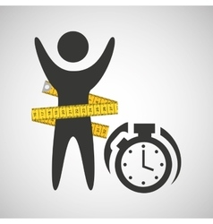 lose weight concept chronometer time vector image