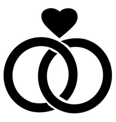 love diamond ring symbol vector image
