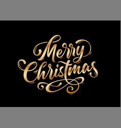 Merry christmas lettering text for merry vector