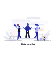 modern flat design concept - digital marketing vector image