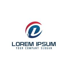 modern letter d logo tech design concept template vector image