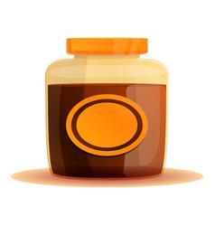 Mustard jar icon cartoon style vector