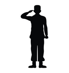 Officer military silhouette isolated icon vector