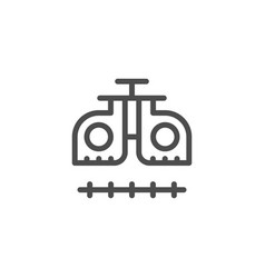 ophthalmologic equipment line icon vector image