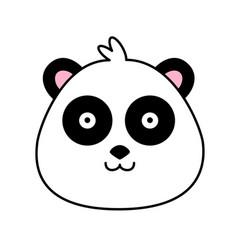 panda bear cute funny cartoon happy cozy relaxed vector image