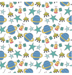 pattern seamless kids with science doodle element vector image