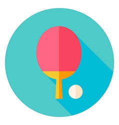 Ping pong circle icon vector