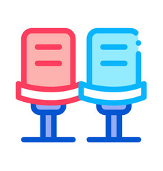 player chairs icon outline vector image