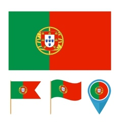 Portugal country flag vector image