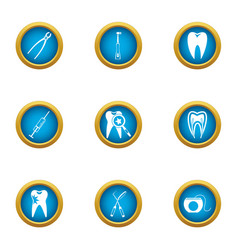Problem tooth icons set flat style vector