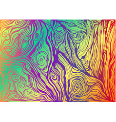 psychedelic colorful art waves decorative texture vector image