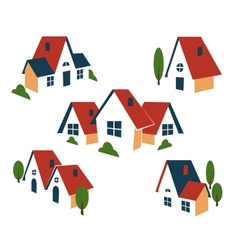 Real Estate or house icons vector