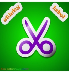 Scissors hairdresser icon sign Symbol chic colored vector image