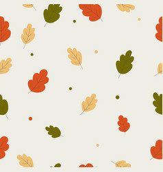 seamless autumn wallpaper design vector image