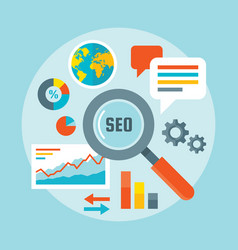 search engine optimization - concept vector image