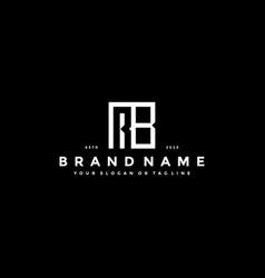 Set letter rb logo design vector