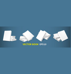 set of book-templates vector image