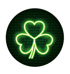 st patricks day neon vector image