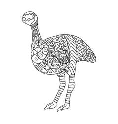 Stylized emu bird isolated on white background vector