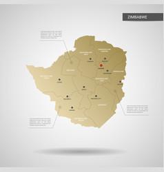stylized zimbabwe map vector image