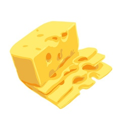 Swiss cheese vector