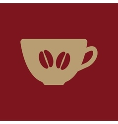 The coffee and cup icon Coffee And Cup symbol vector image