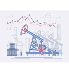 The oil industry pumps trade and profit vector