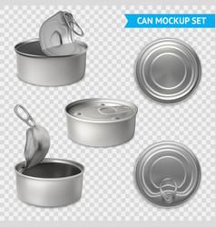 tin cans transparent set vector image