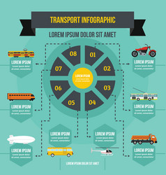 transport infographic concept flat style vector image