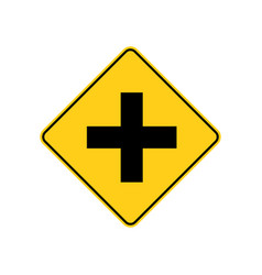 Usa traffic road signa four-way intersection vector