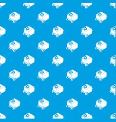 welding machine pattern seamless blue vector image