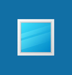Window minimal colored icon on blue vector