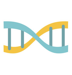 yellow blue dna icon flat style vector image